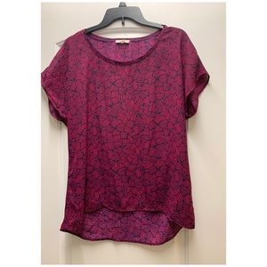 Pleione abstract blouse